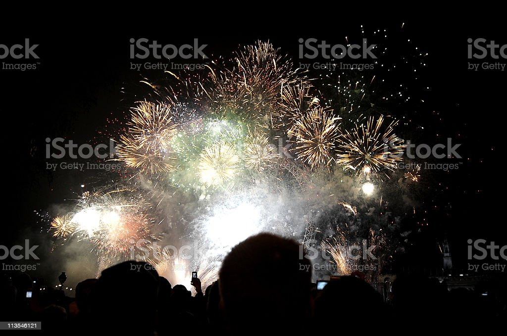 New Year's Eve Fireworks royalty-free stock photo