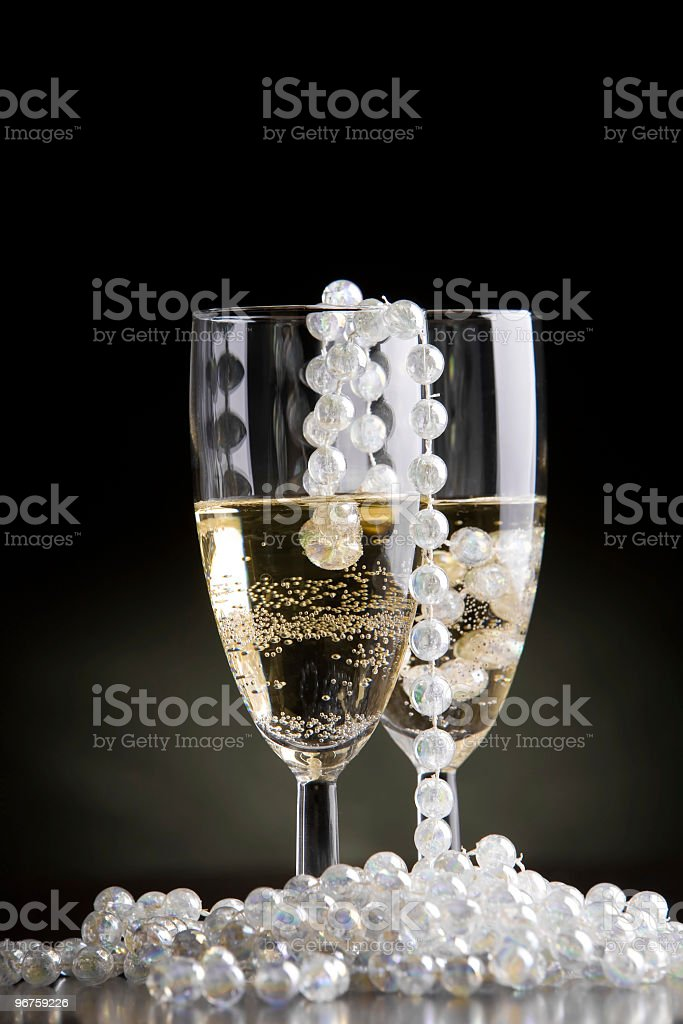 New Years eve glamour toast royalty-free stock photo