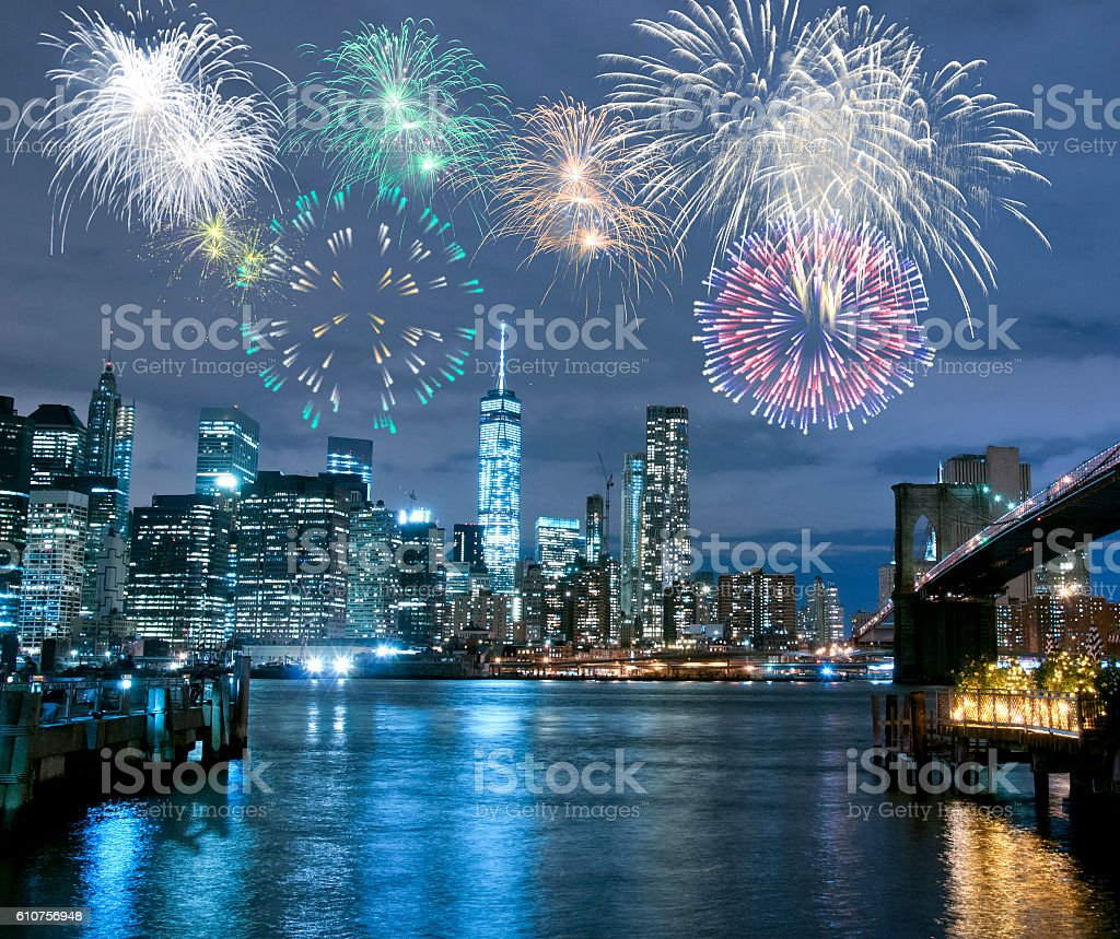 New Year's Eve in New York City stock photo