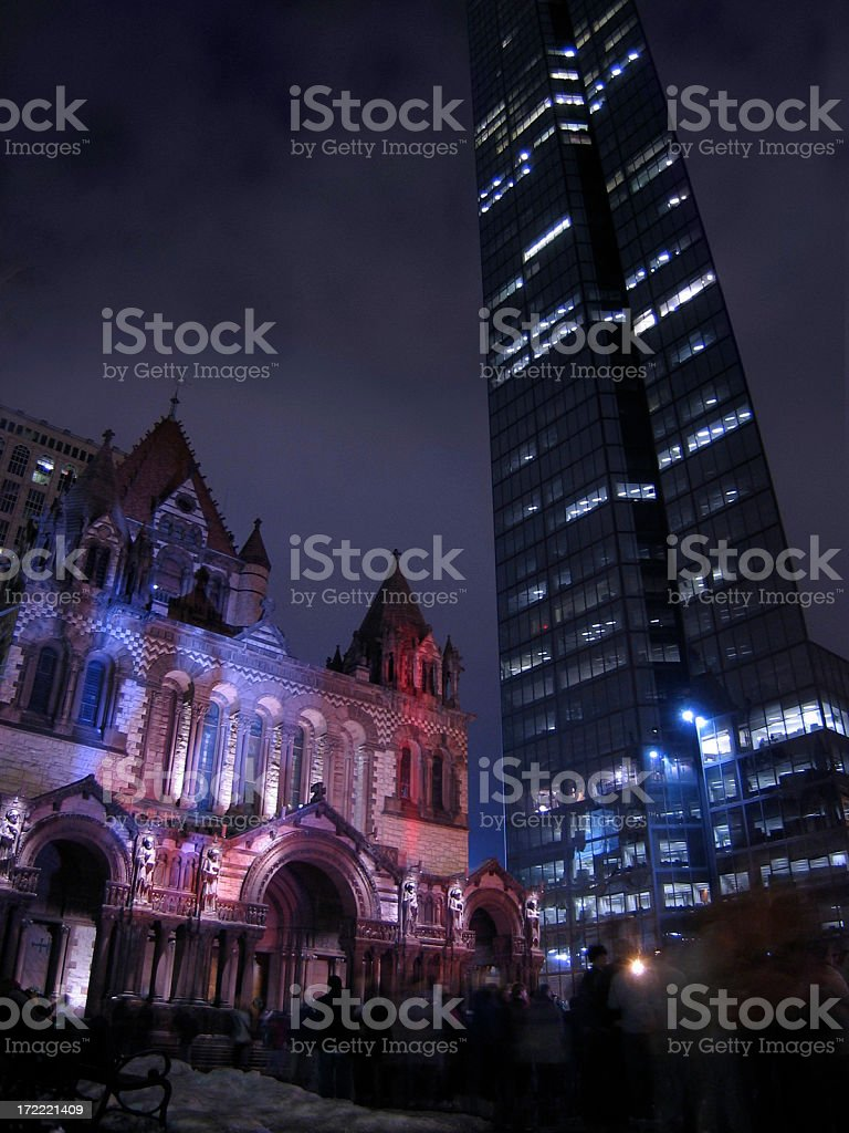 New Year's Eve - Old North Church royalty-free stock photo
