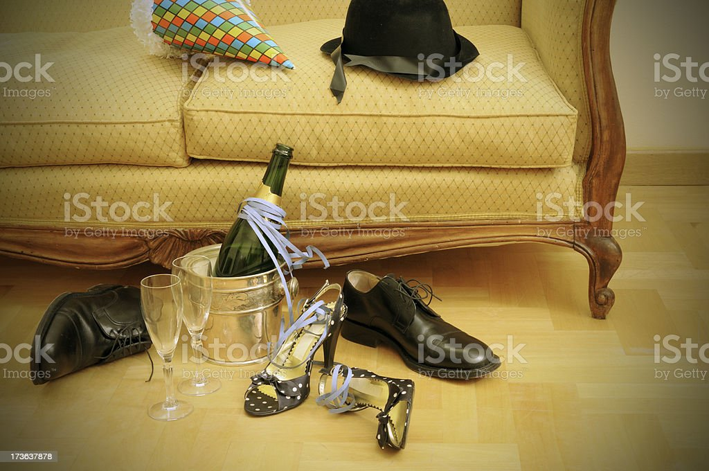 New Year's Eve or Carnival Party royalty-free stock photo