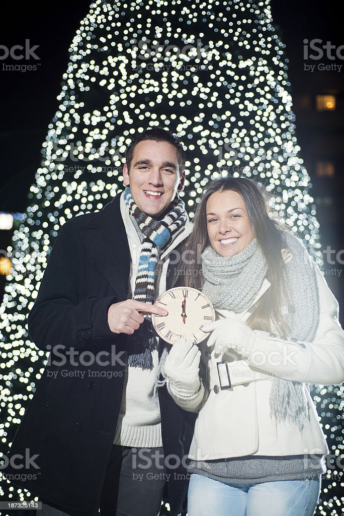 New Year's Eve outdoor royalty-free stock photo