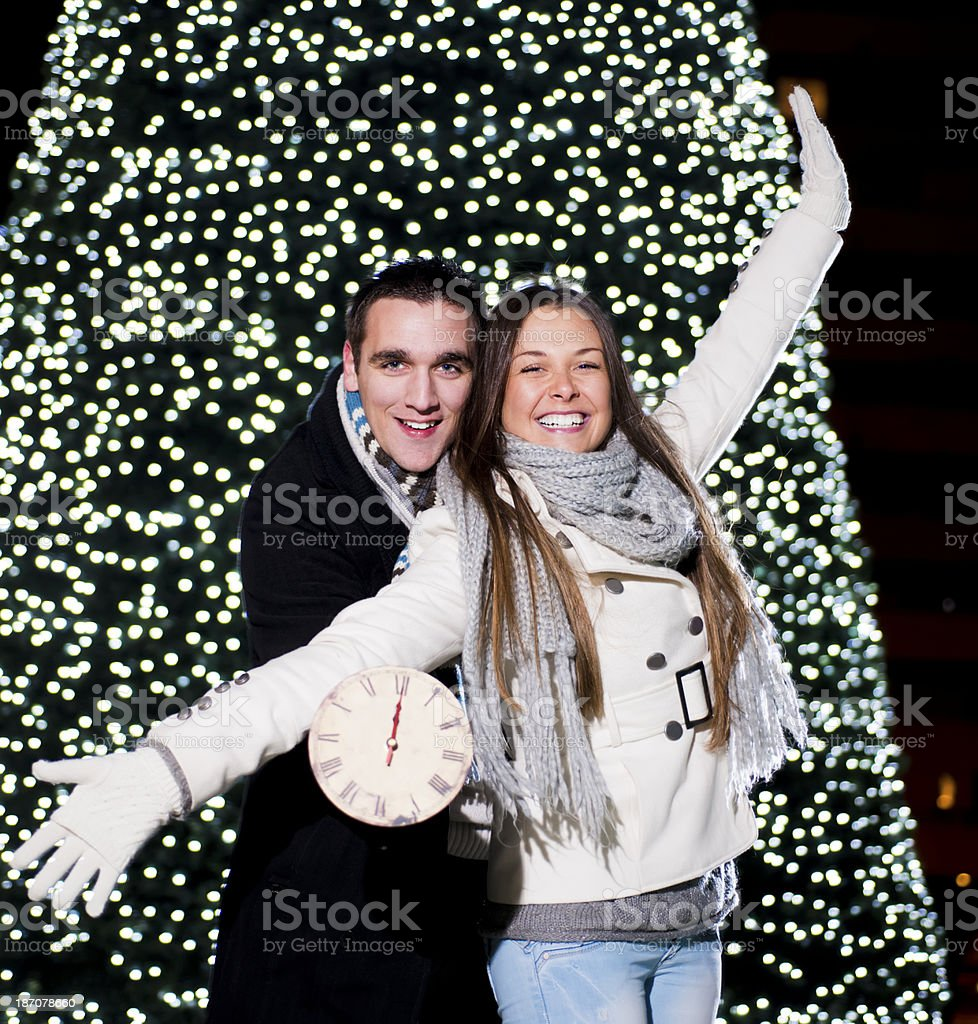 New Year's Eve outside royalty-free stock photo