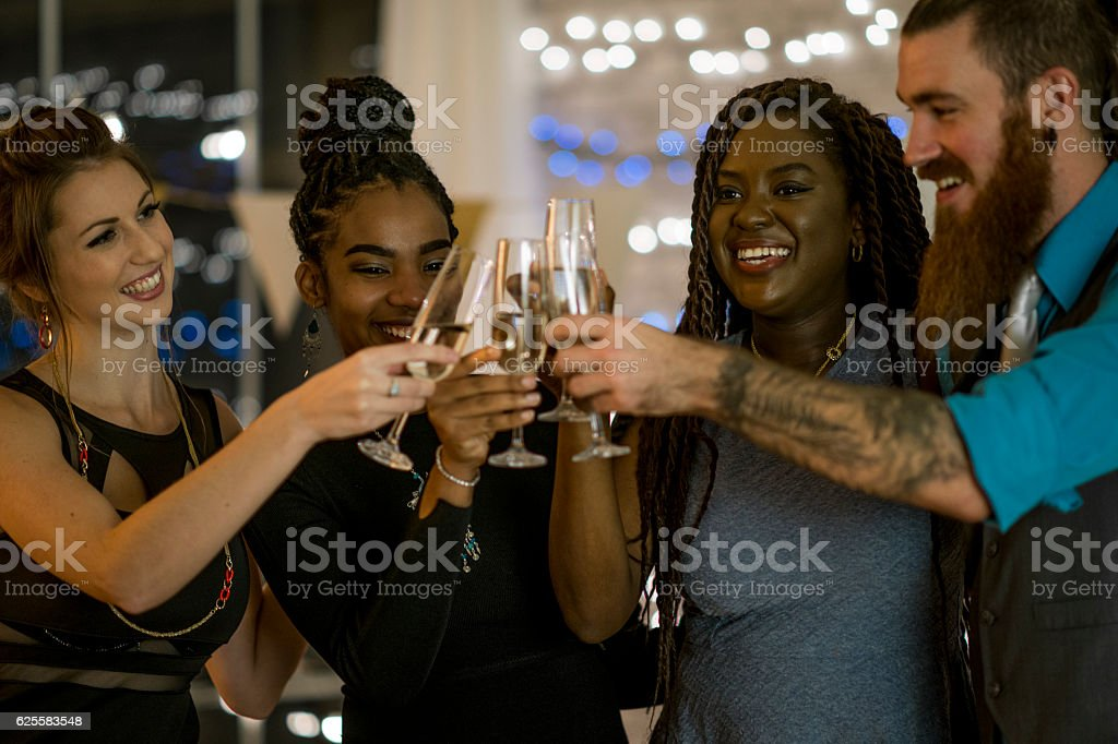 New Year's Eve Party stock photo