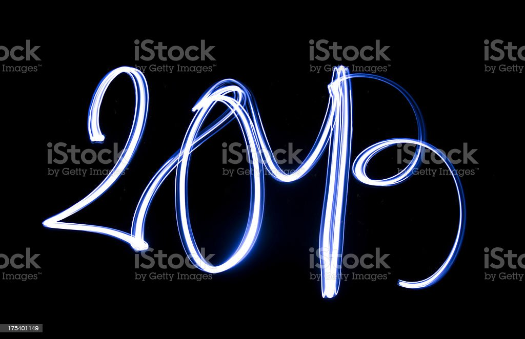 2013 new year's eve text on dark royalty-free stock photo