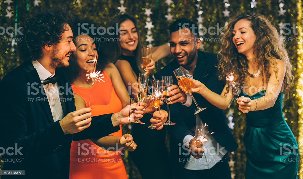 New Year's Eve Toast stock photo
