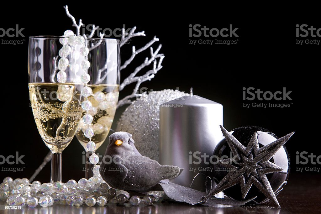 New Years eve toast royalty-free stock photo