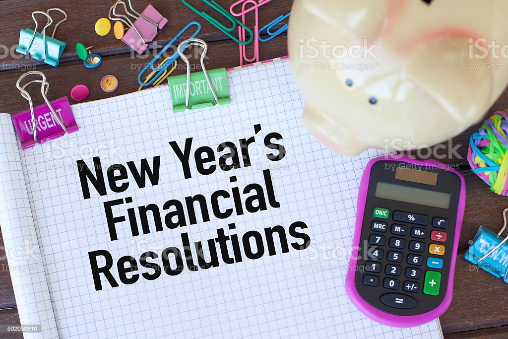 New Year's Financial Resolutions stock photo