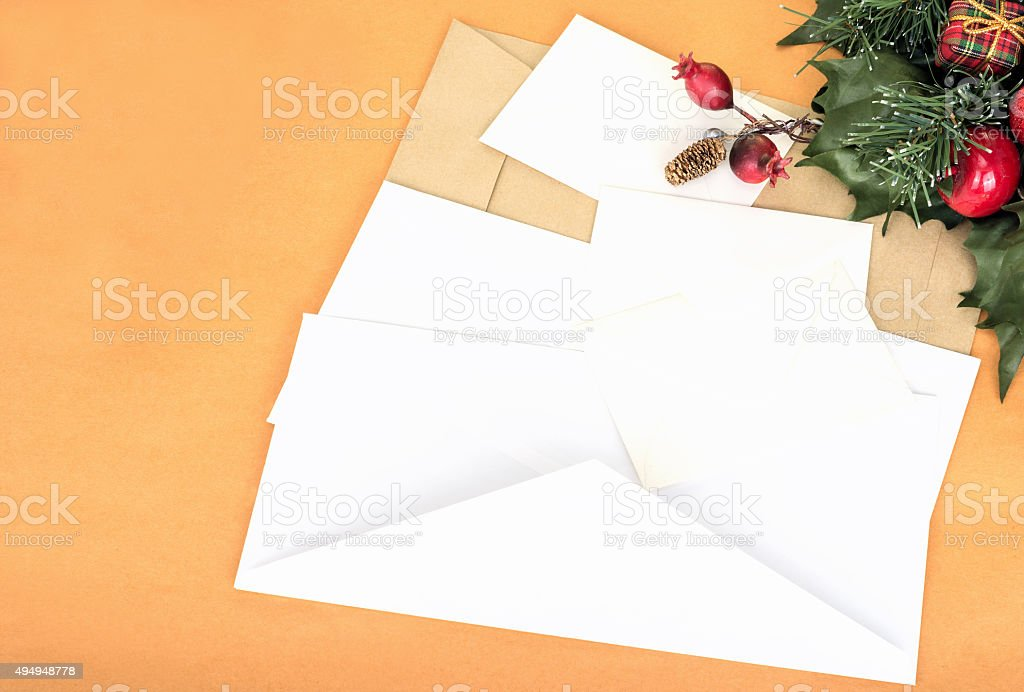 New Year`s letter stock photo