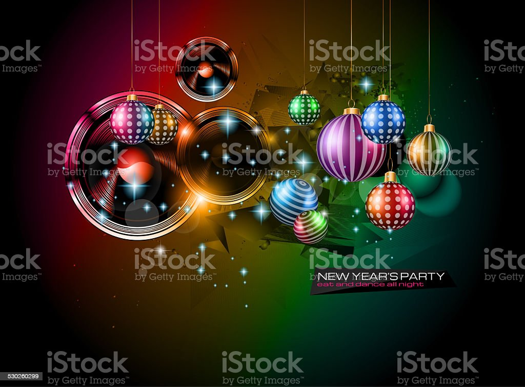 2015 New Year's Party Flyer design for nigh clubs stock photo