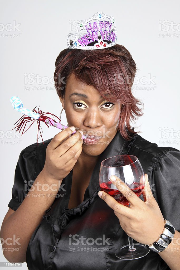 New Year's Party Girl stock photo