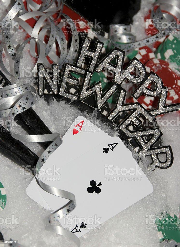 New Years Poker royalty-free stock photo