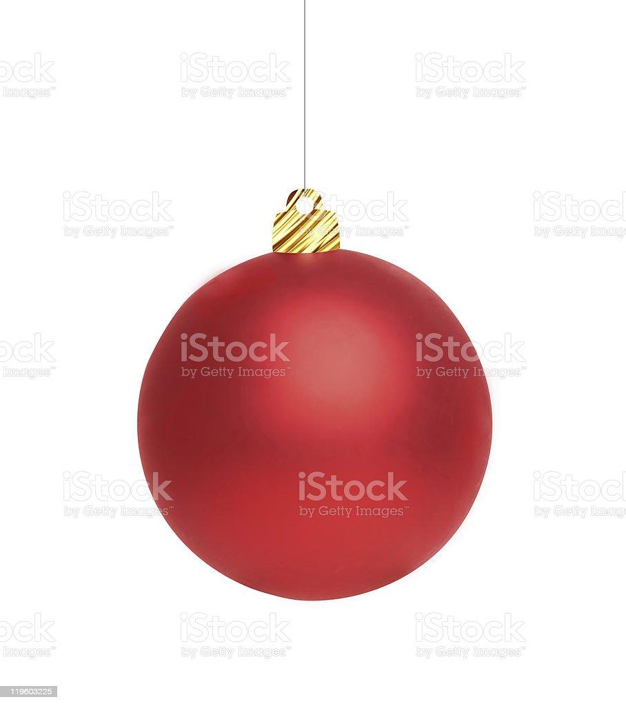 New year's red de bola foto de stock libre de derechos