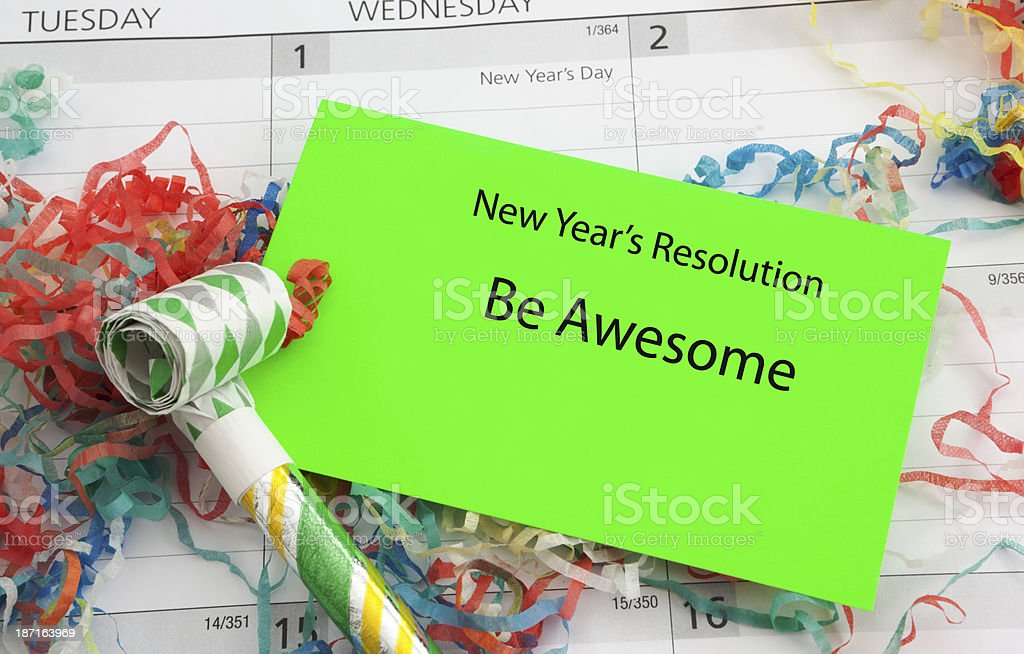 New Year's Resolution: Be Awesome royalty-free stock photo