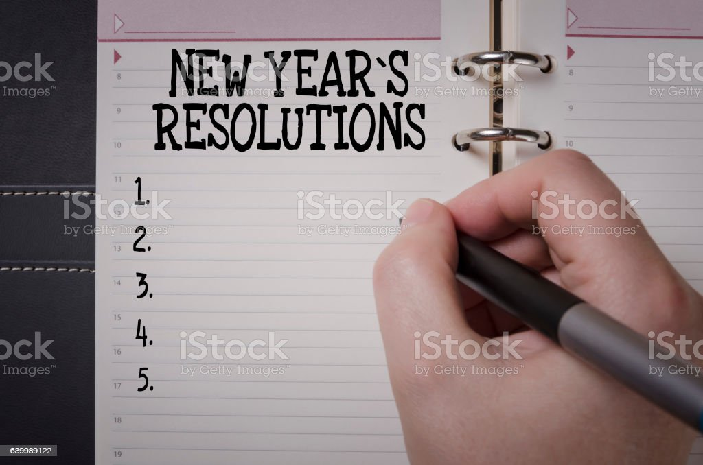 New Year's Resolution concept stock photo