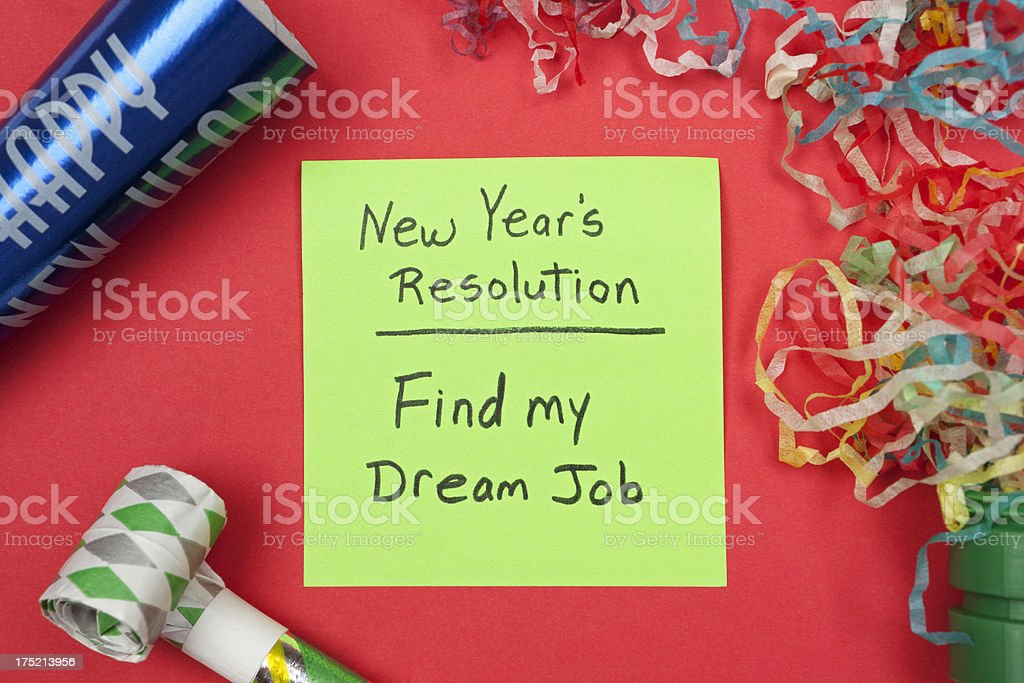 New Years Resolution: Find Dream Job royalty-free stock photo