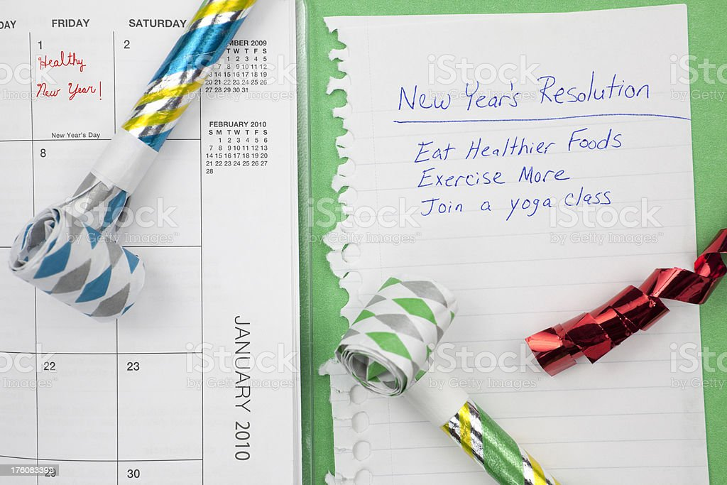 New Year's Resolution for a Healthy Lifestyle royalty-free stock photo