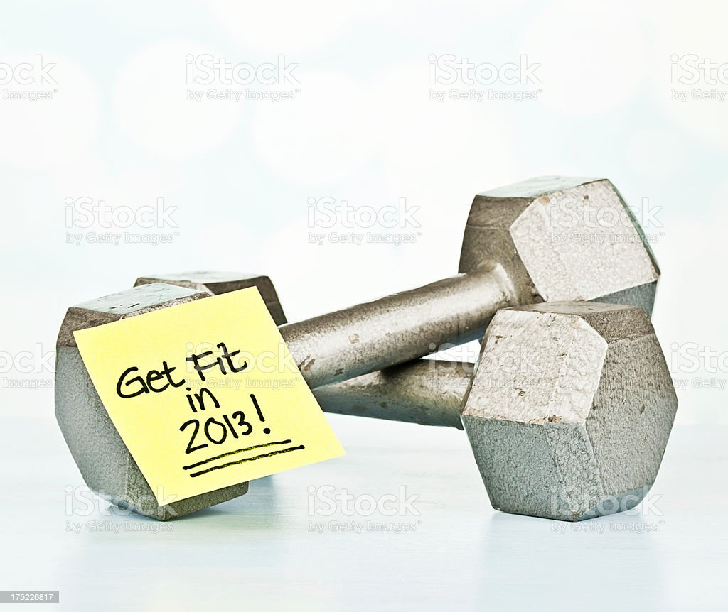 New Year's Resolution: Get Fit in 2013 royalty-free stock photo