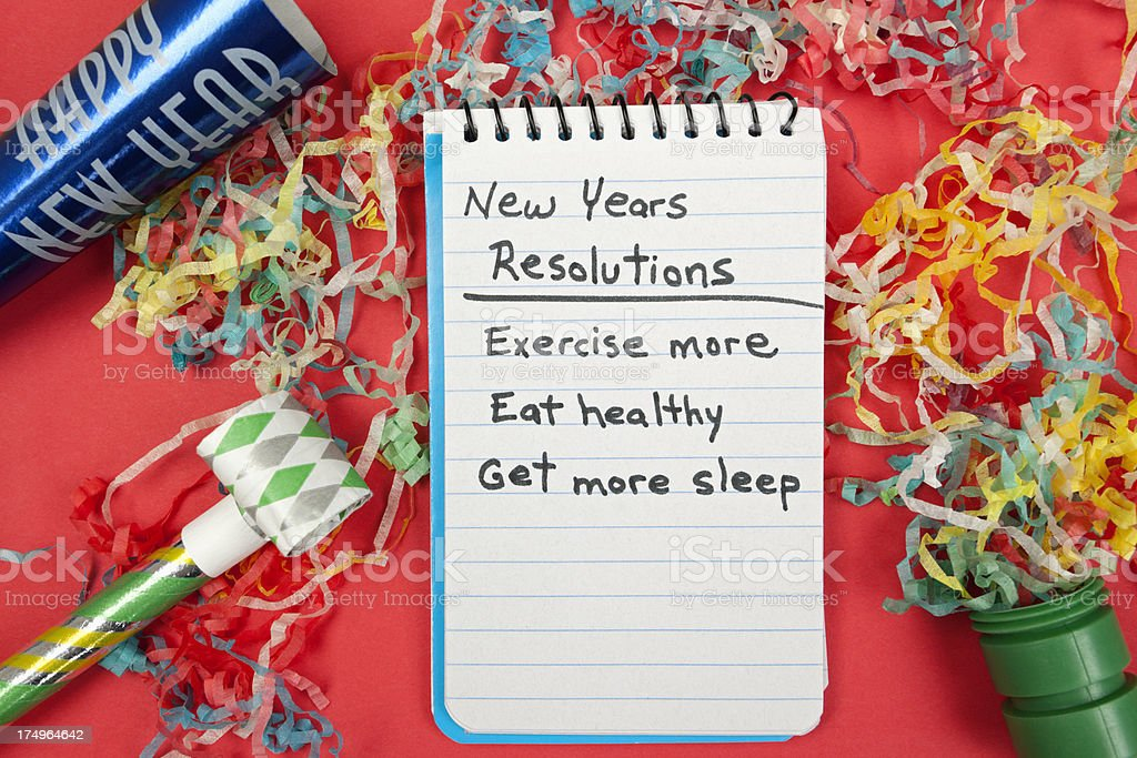 New Years Resolution: Healthy Lifestyle royalty-free stock photo