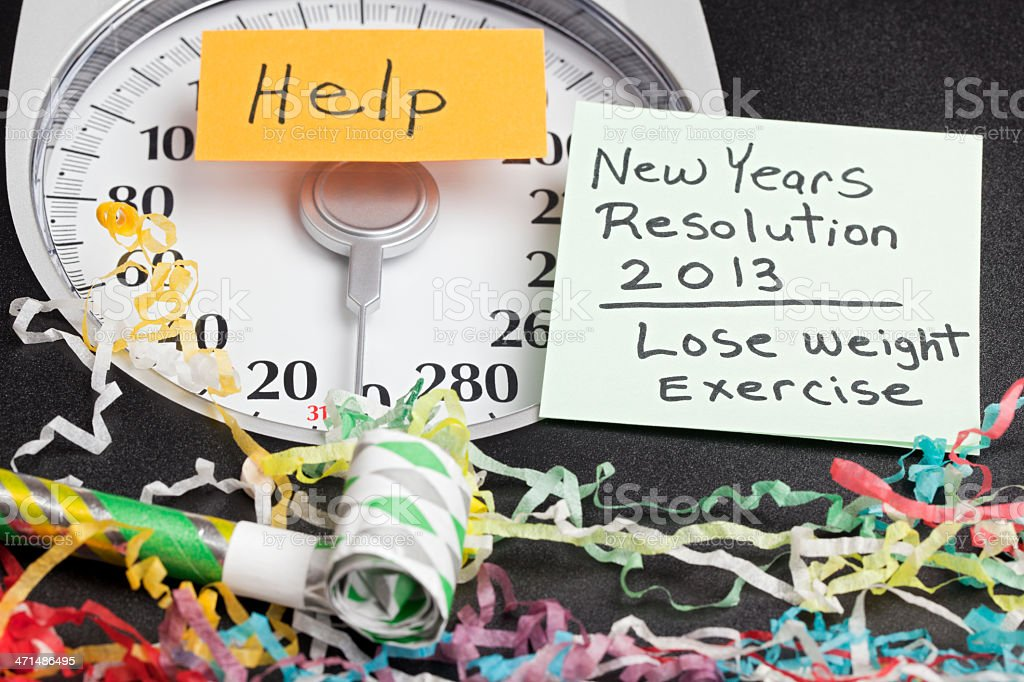 New Years Resolution: Lose Weight and Exercise royalty-free stock photo