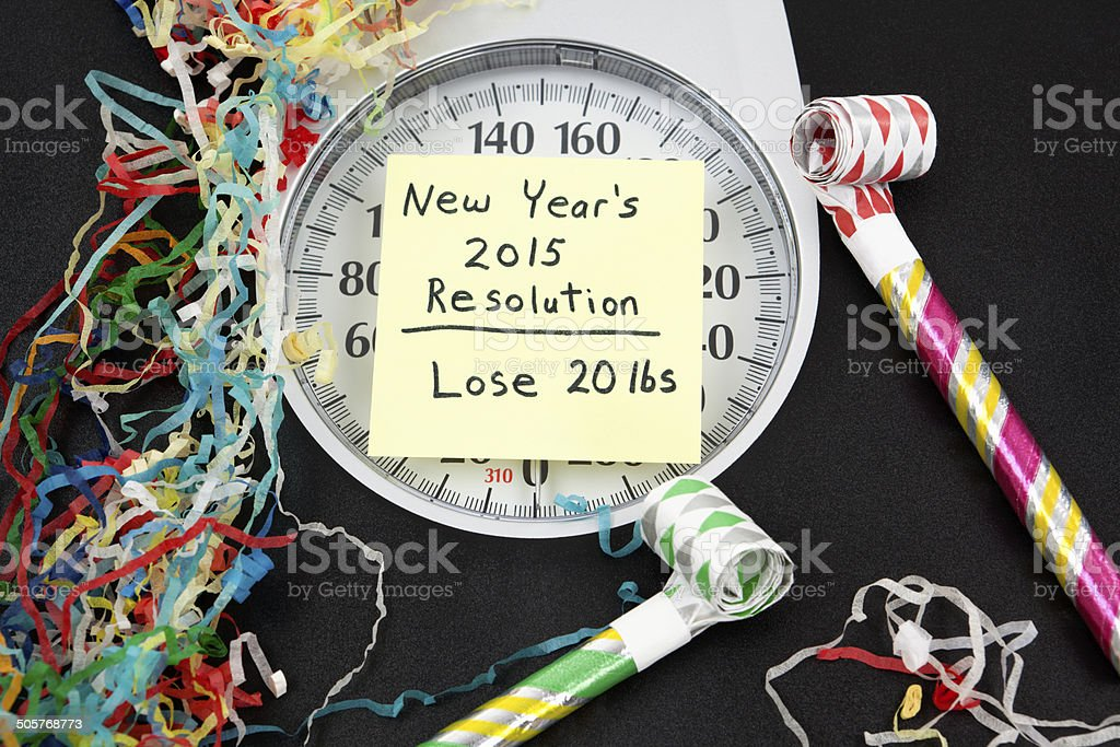 New Years Resolution: Lose Weight stock photo