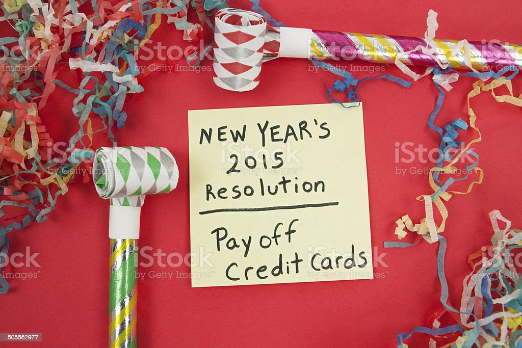 New Year's Resolution: Pay Off Debt stock photo