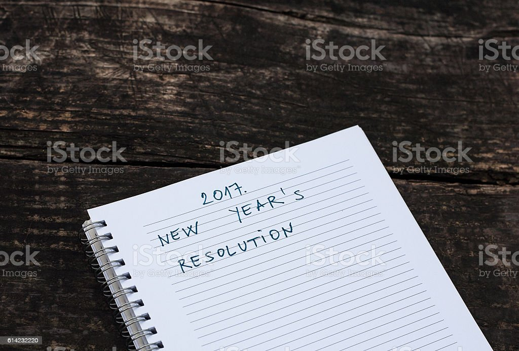 2017. New Year's Resolution stock photo