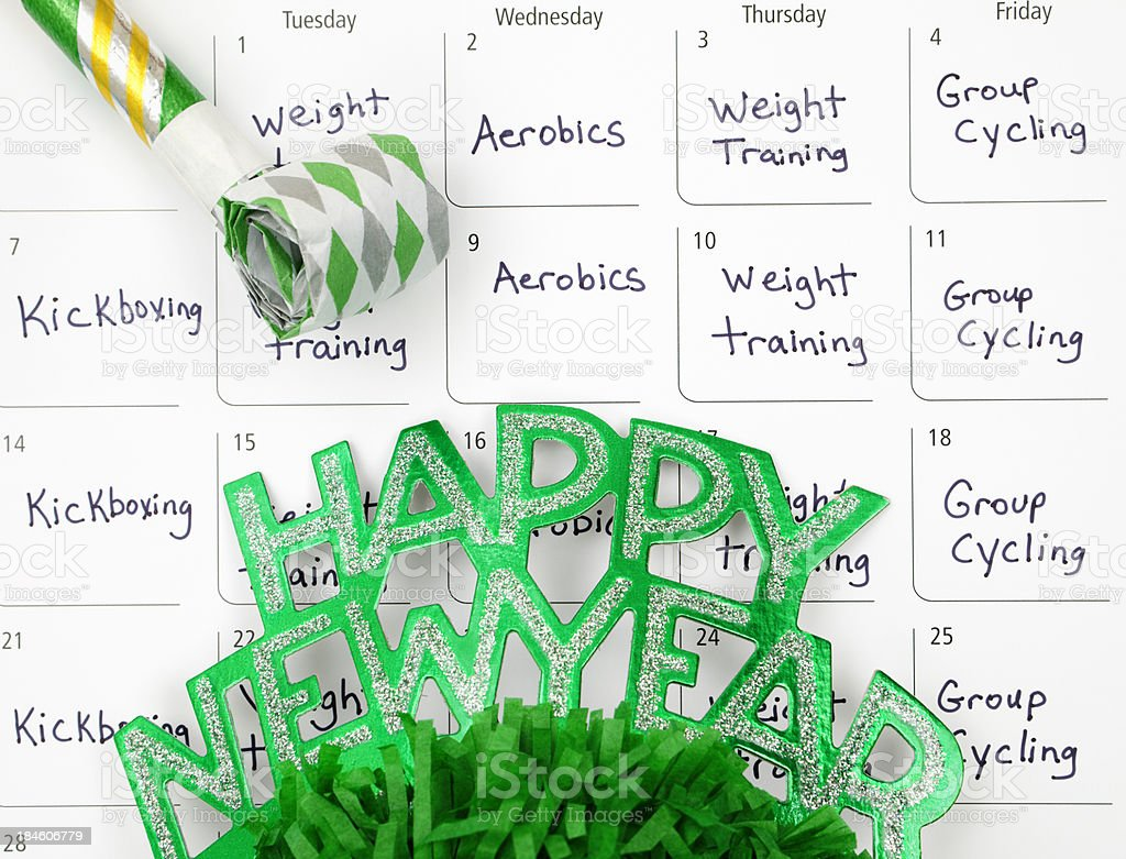 New Year's Resolution: Plan a Healthy Lifestyle royalty-free stock photo