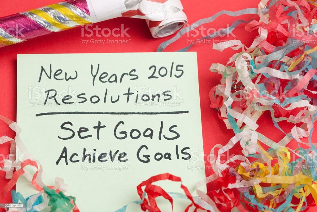 New Years Resolution: Set and Achieve Goals stock photo