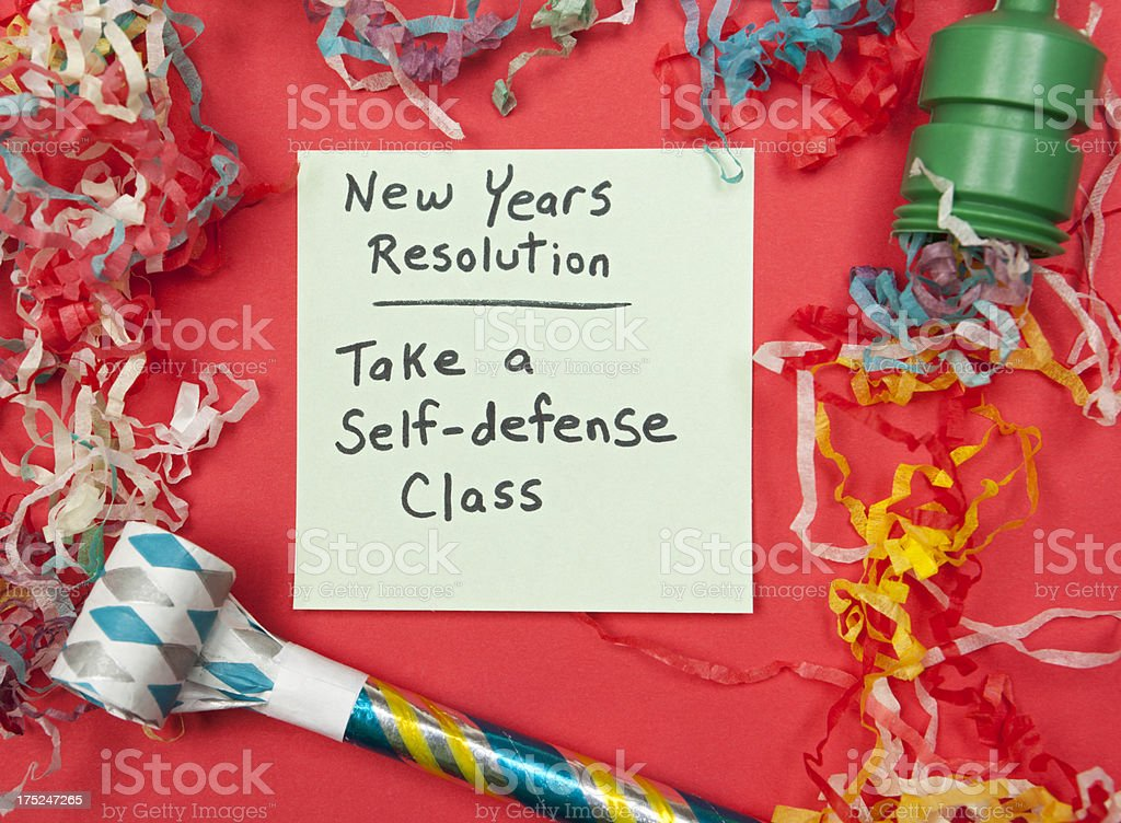 New Years Resolution: Take a Self-Defense Class royalty-free stock photo