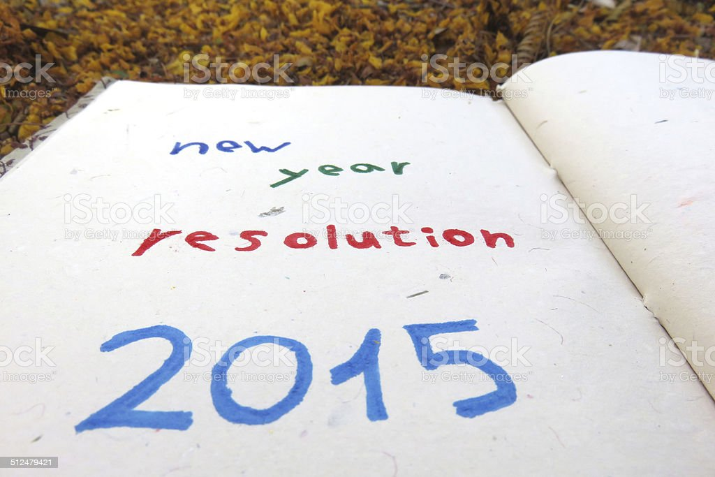 New Year's Resolutions 2015 stock photo