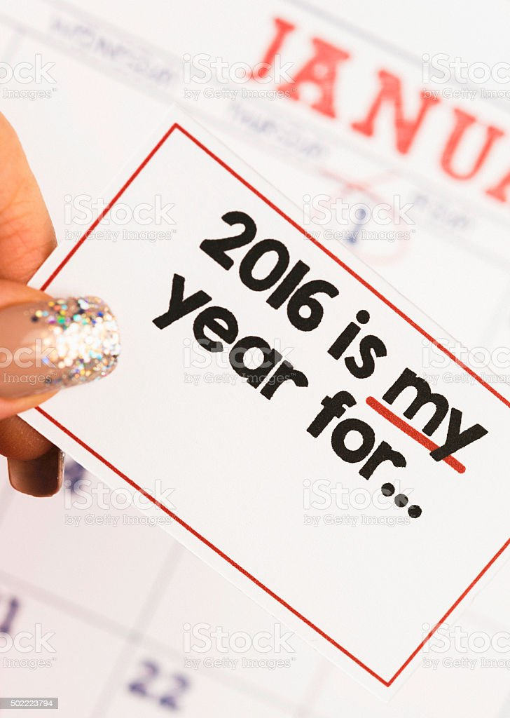 New Year's Resolutions 2016: My year for... stock photo