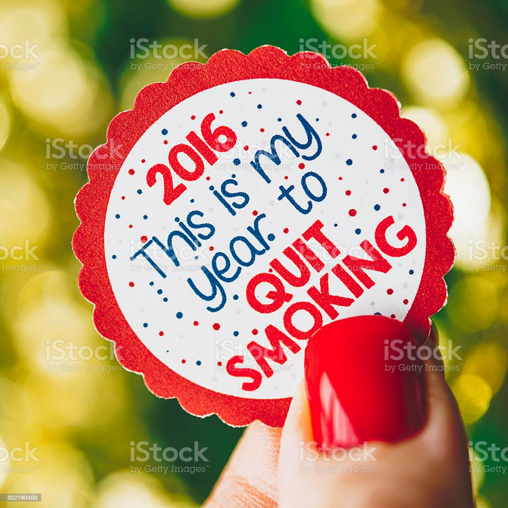 New Year's Resolutions 2016: Quit Smoking stock photo
