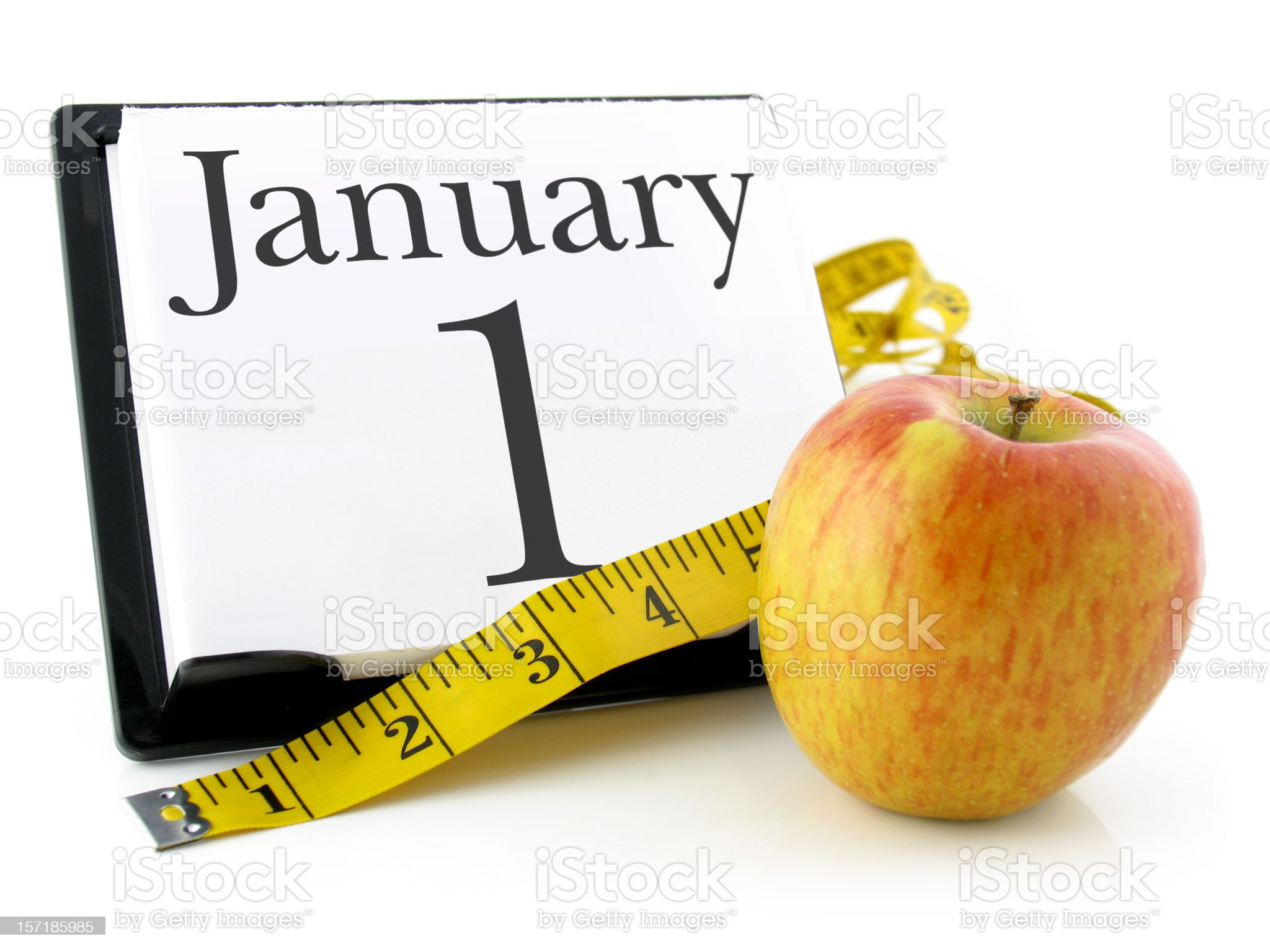 New Year's Resolutions, Dieting royalty-free stock photo