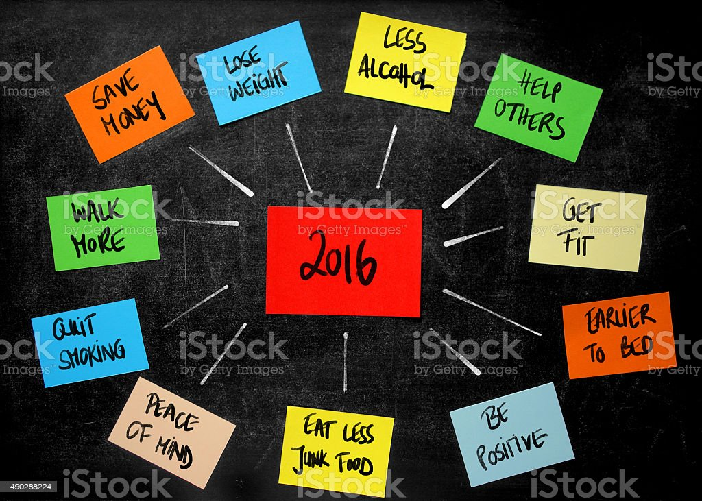 New Year's Resolutions for 2016 stock photo
