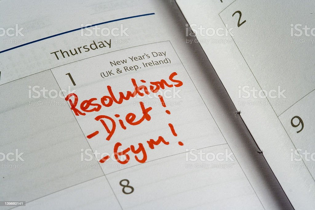 New Years Resolutions royalty-free stock photo