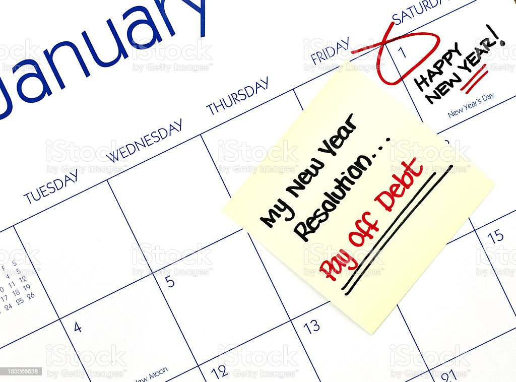 New Year's Resolutions royalty-free stock photo