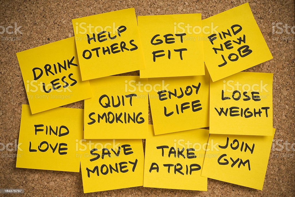 new year's resolutions stock photo