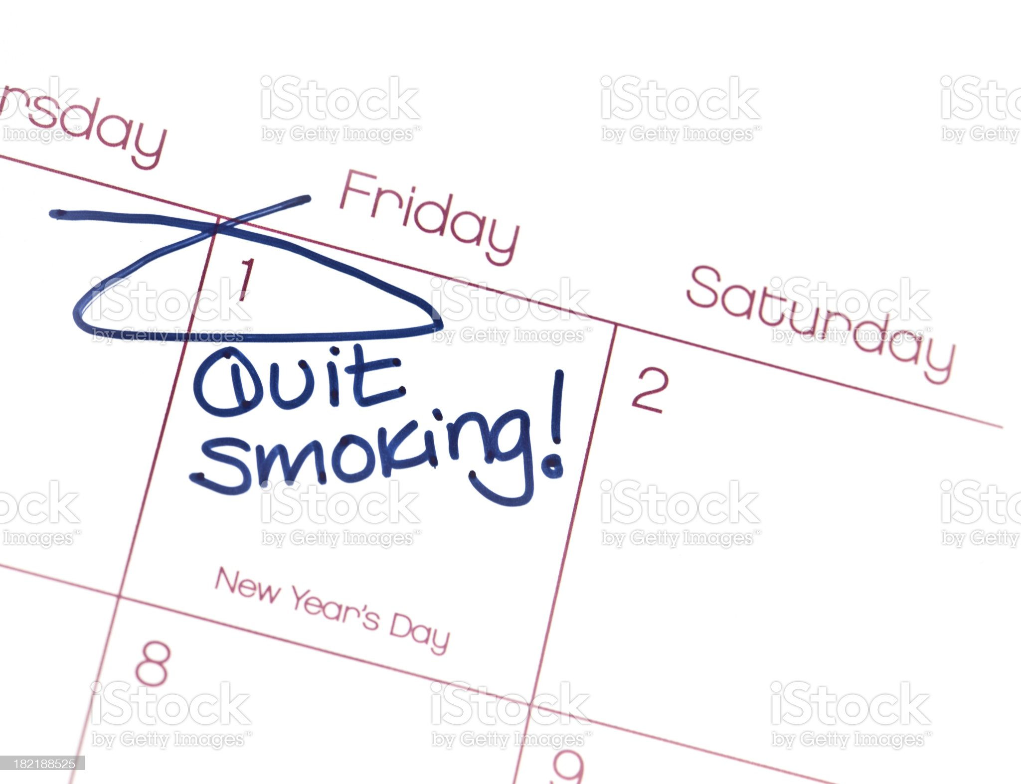 New Year's Resolutions  Quit Smoking royalty-free stock photo