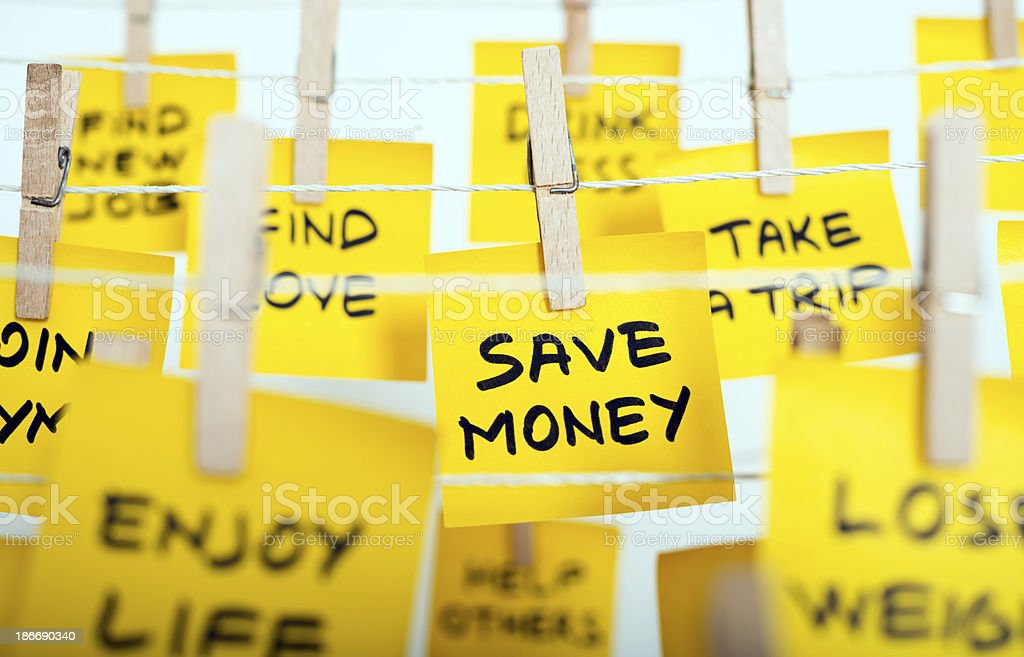 new years resolutions series stock photo
