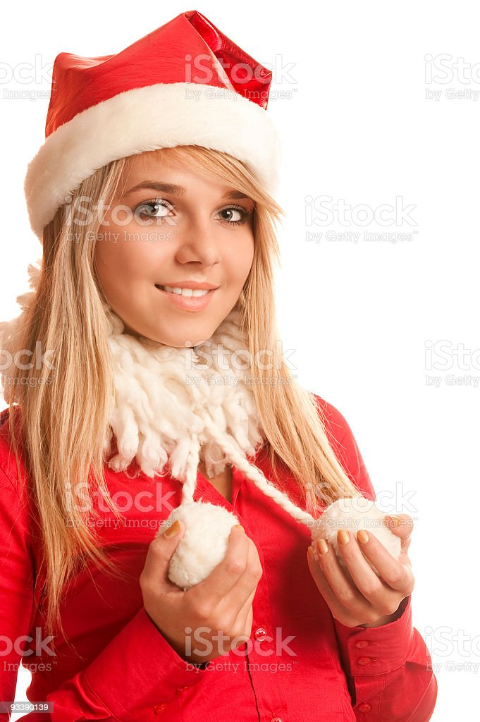New Year's Snow Maiden royalty-free stock photo