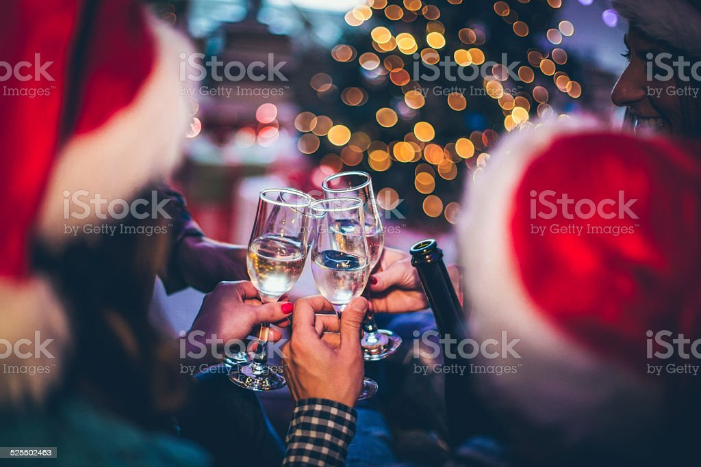 New Year's toast stock photo
