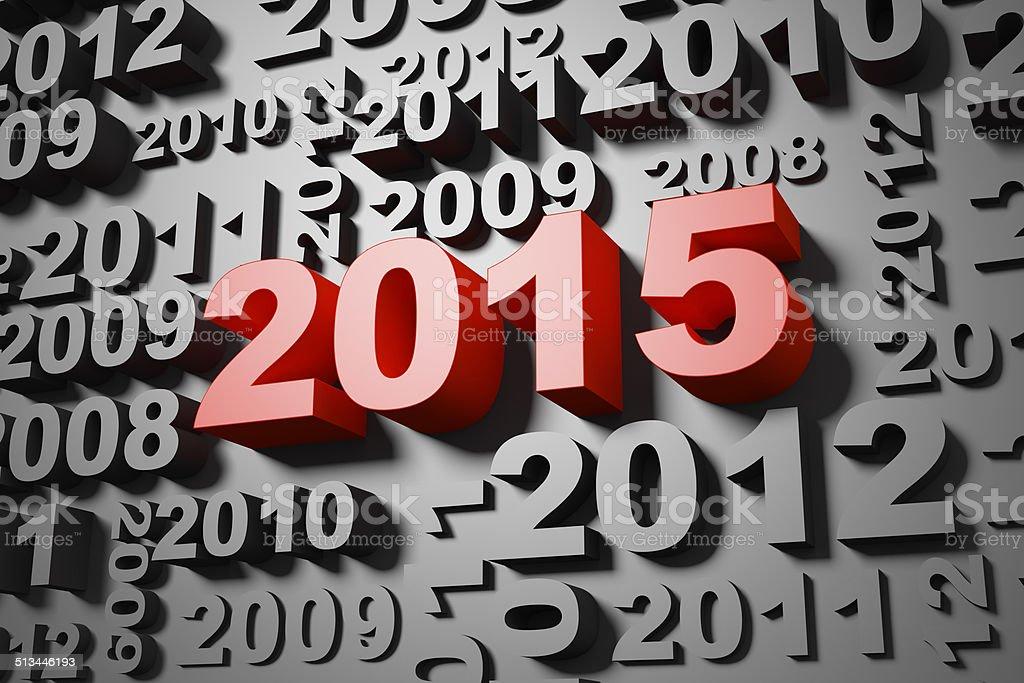 2015 new year's wall stock photo
