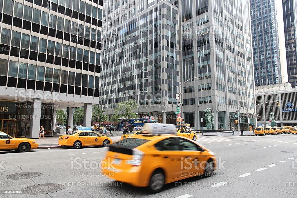 New York 6th Avenue stock photo
