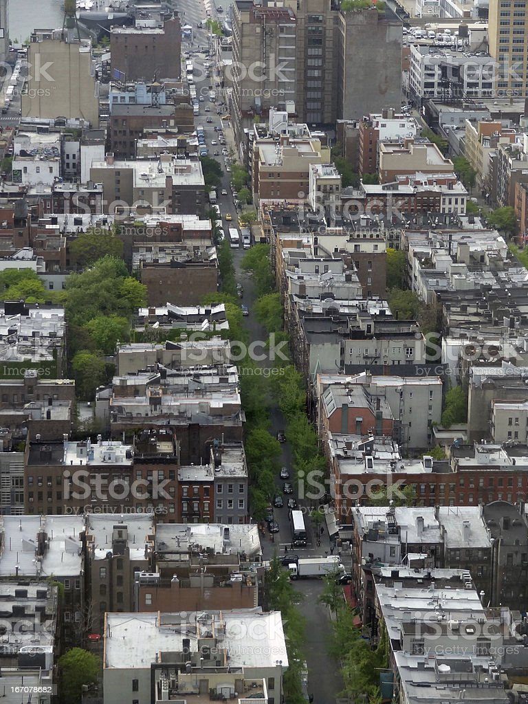 New York aerial view royalty-free stock photo