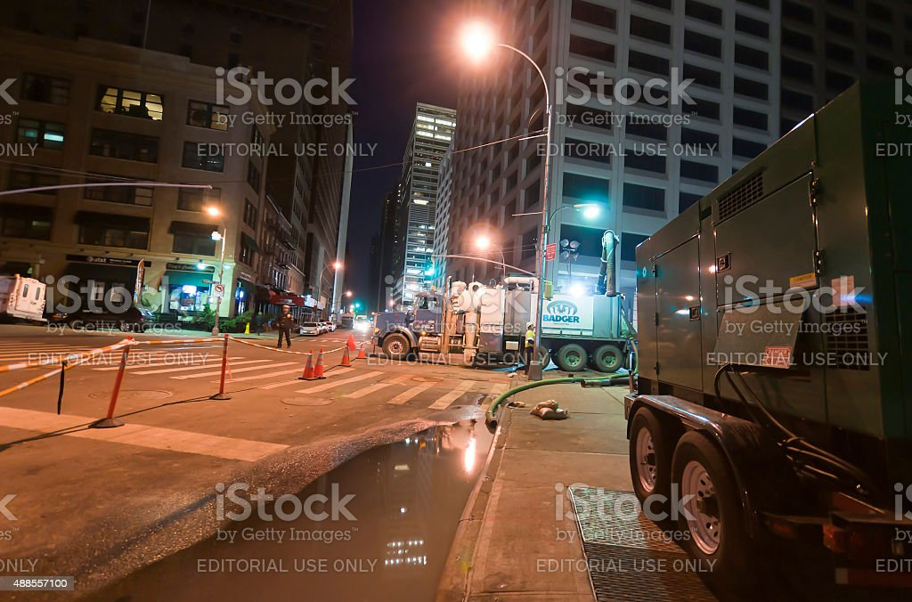 New York after Sandy Superstorm stock photo