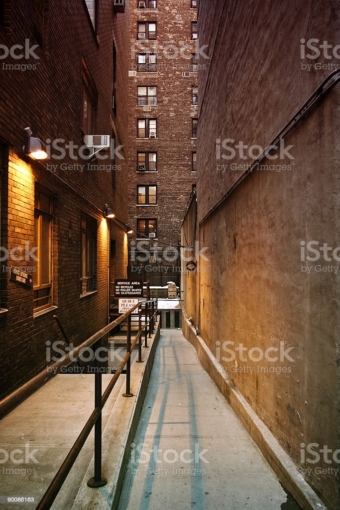 New York alley royalty-free stock photo