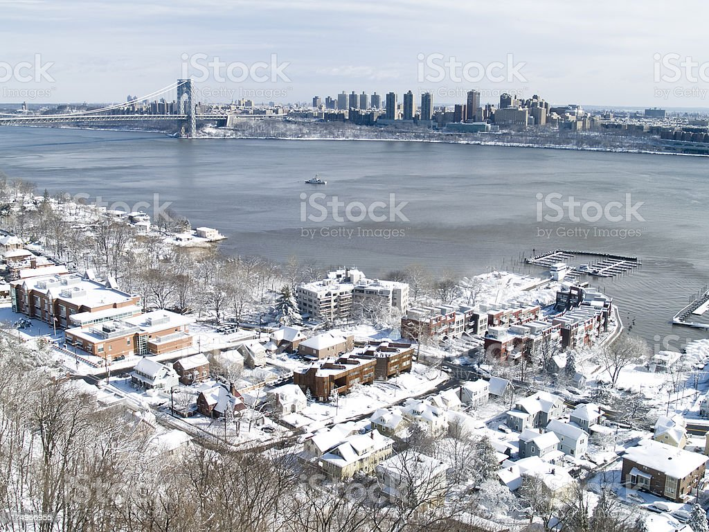 New York and NJ After Snowstorm Nemo stock photo