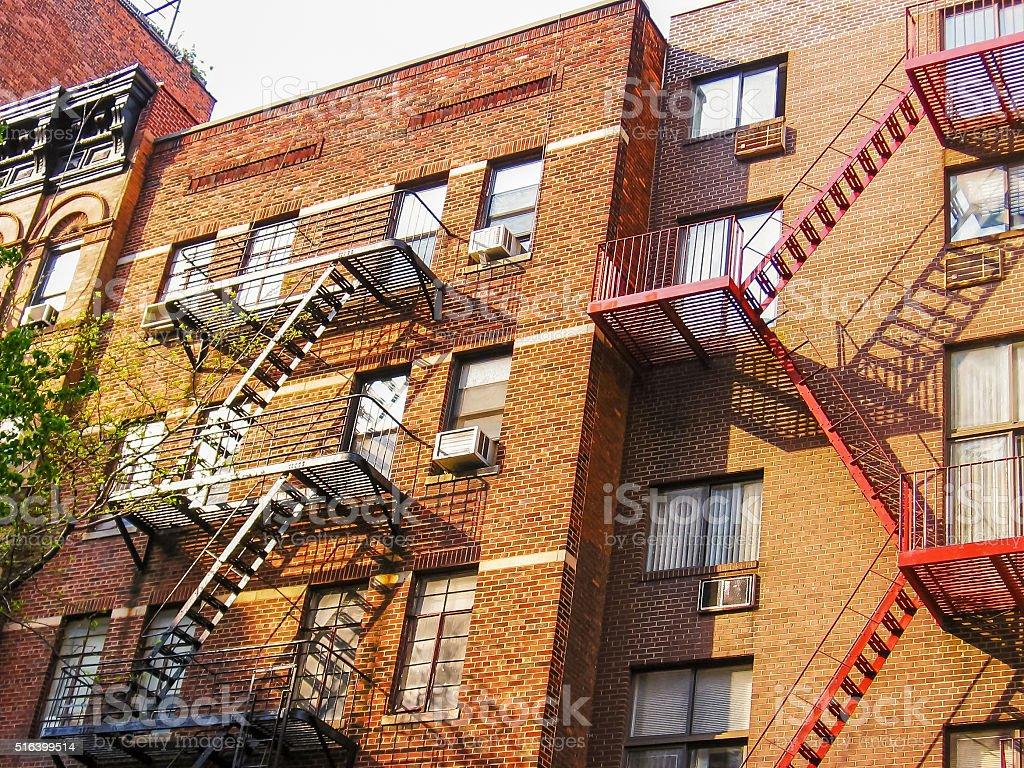New York apartments stock photo