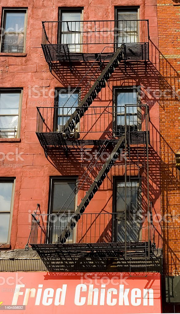 New York Appartment Building stock photo